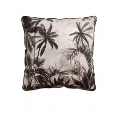 Coussin Velvet Printed Tropical Vintage