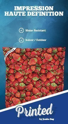 Coussin géant Printed JumboBag Strawberry